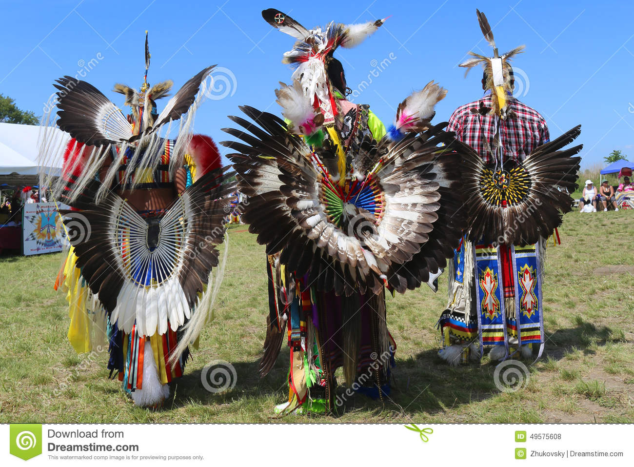 Unidentified Male Native American Dancers Wears
