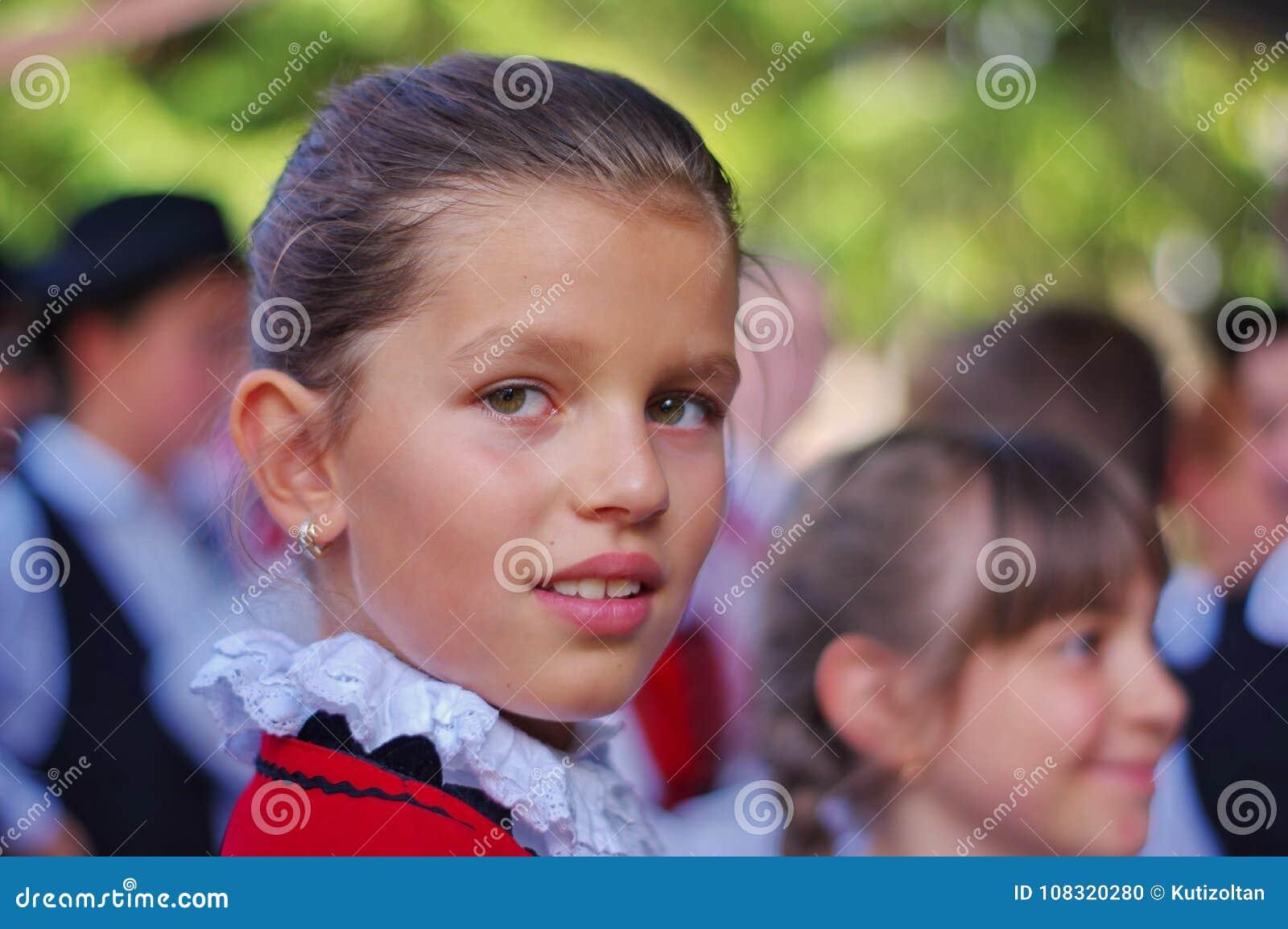 Pure beauty. Portrait of a young szekler girl