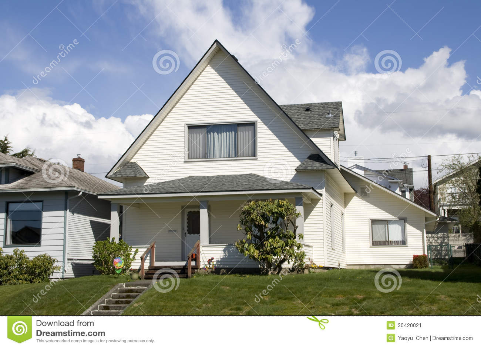 Uniek wit huis stock afbeelding afbeelding bestaande uit stairs 30420021 - Ontwerp buitenkant ontwerp ...
