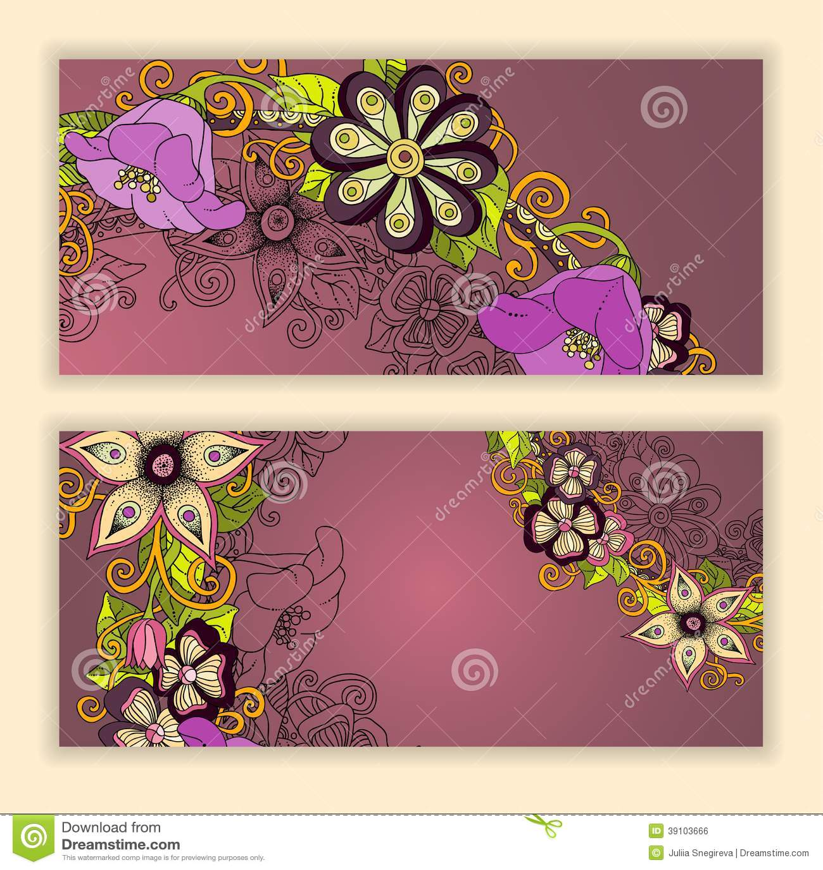 Unieke die patroonkaart met kunstbloemen wordt geplaatst