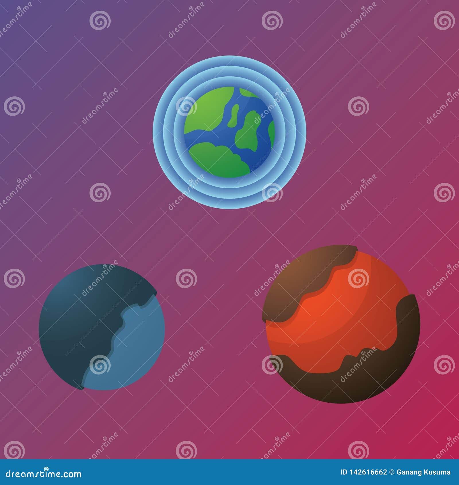 Unieke planeet drie bij ruimte