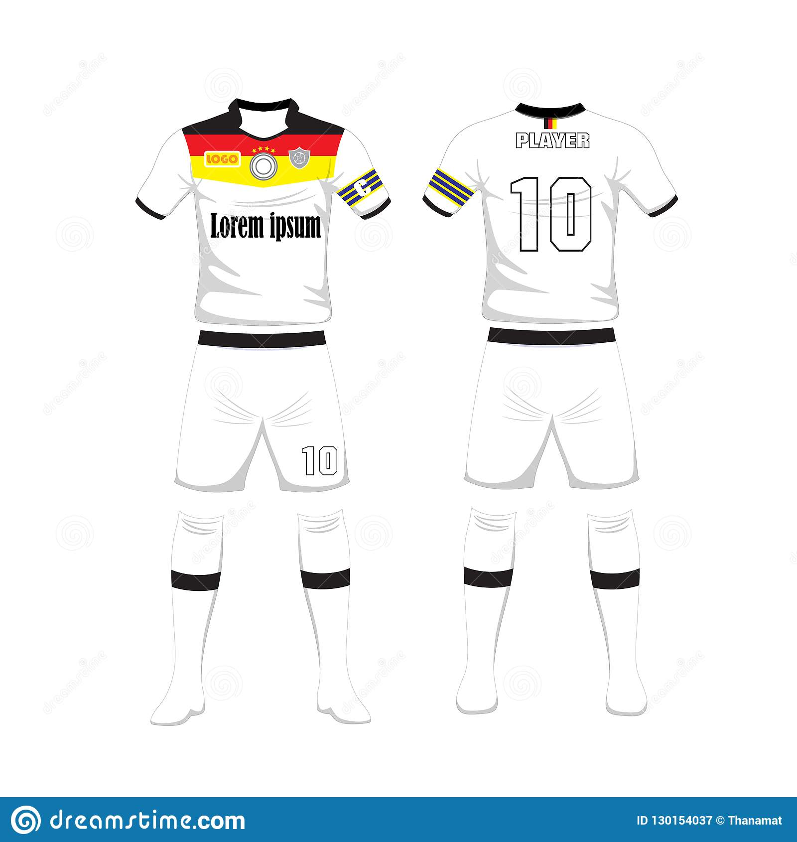 uniform of football germany sport design template sport uniform