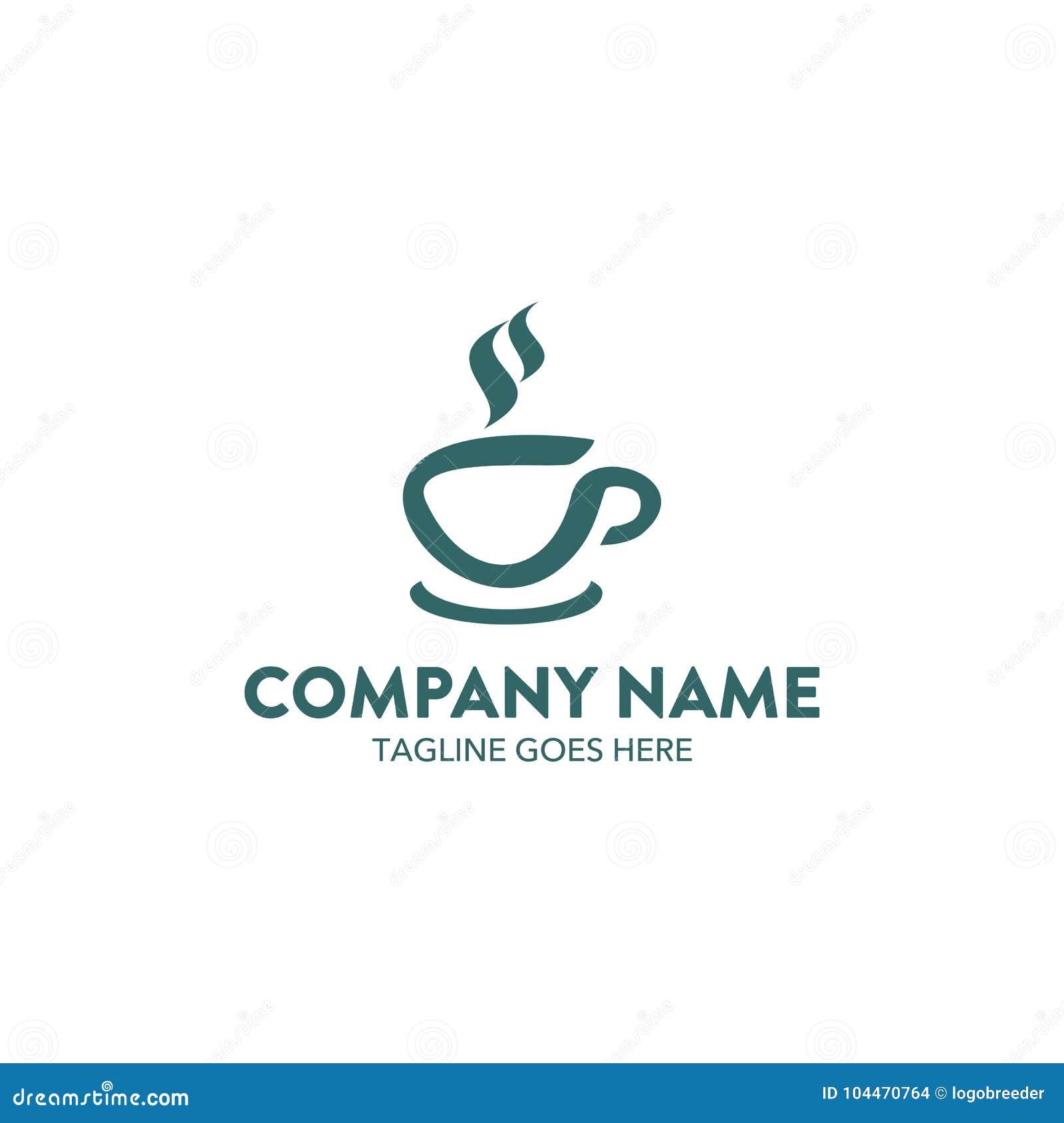 Unik mall för kaffekafélogo vektor redigerbart