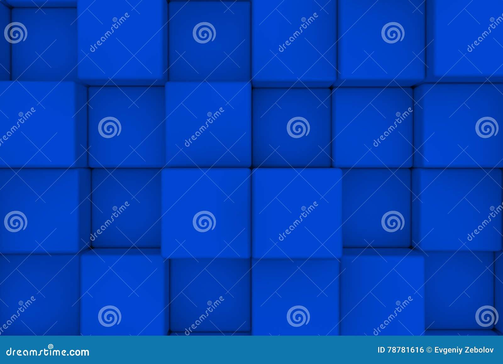 Unik vägg för begreppsmässig bild för kuber 3d abstrakt bakgrund 3d framför