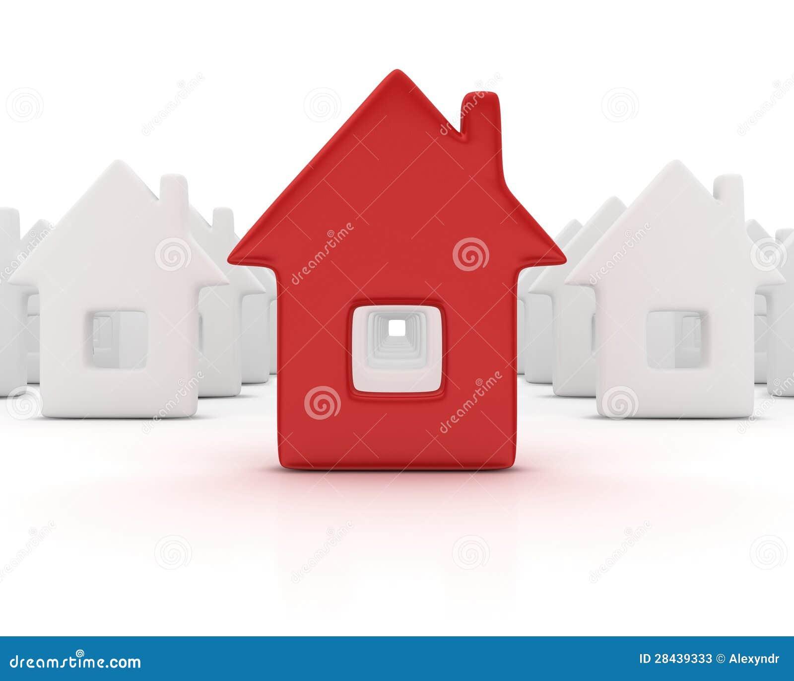 Unikt rött hus