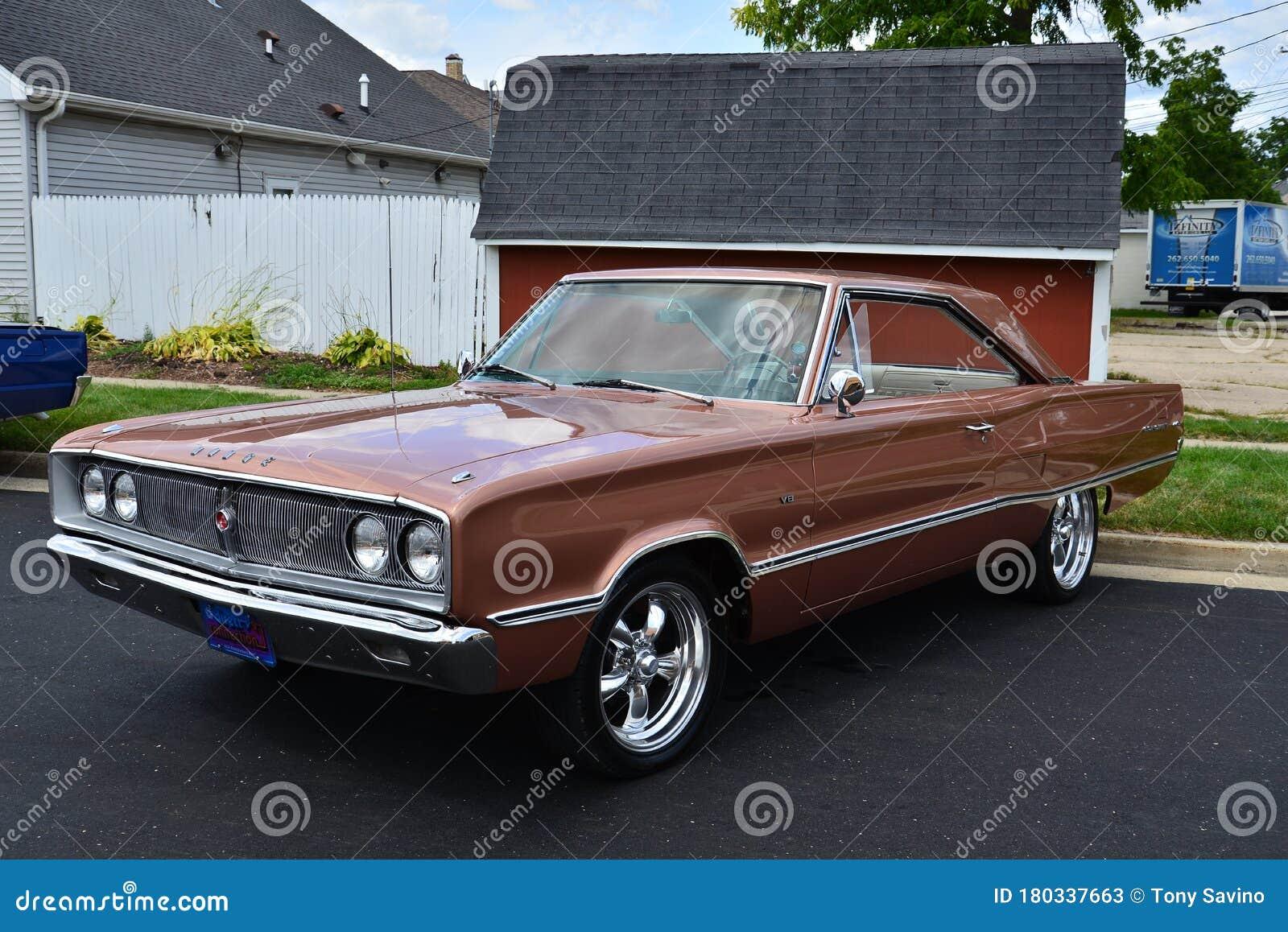 Bronze 1967 Dodge Coronet 440 Editorial Stock Photo Image Of Antique Aggressive 180337663