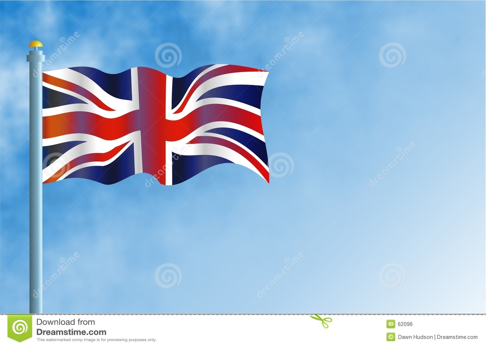 Download Union Jack illustration stock. Illustration du flagpole - 62096