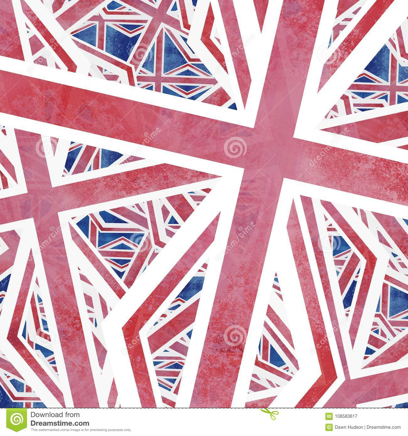 Union Jack Flag Collage Abstract