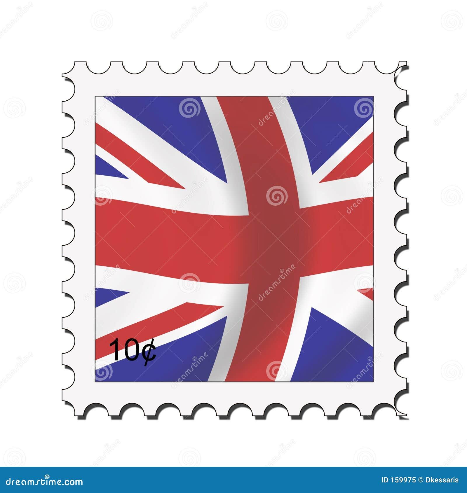 Union Jack Stamp Royalty Free Stock Photo