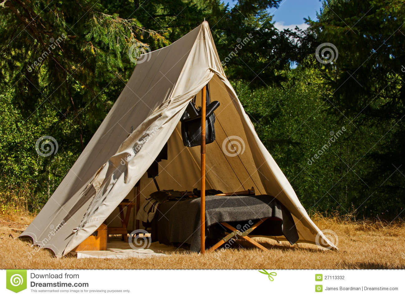 Civil War Tents : Union soldier tent stock photo image of quarters shade
