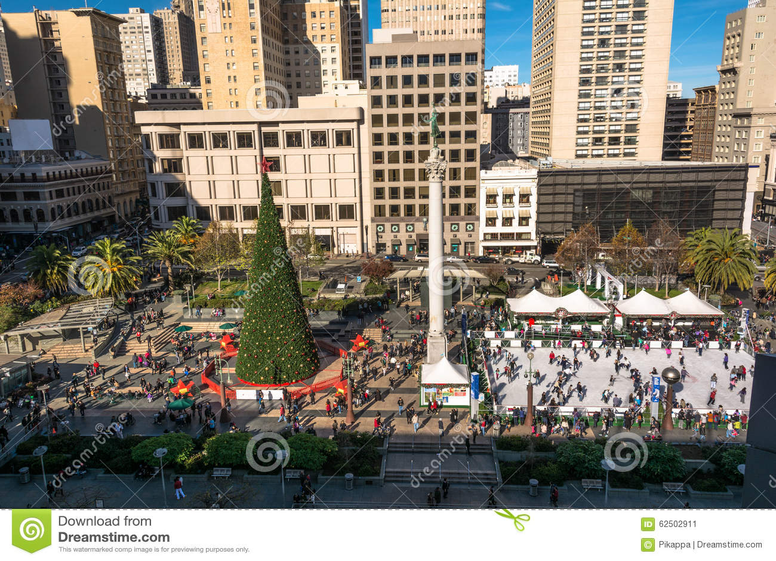 Union Square Zur Weihnachtszeit In San Francisco Redaktionelles Foto ...
