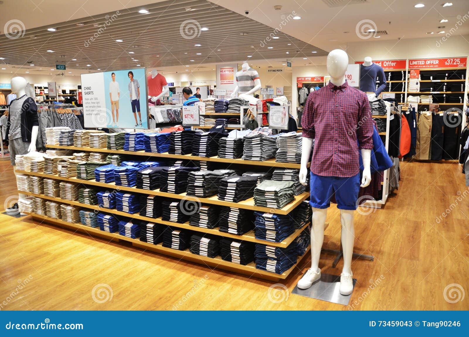 Uniqlo Store In Changi Airport, Singapore Editorial Photo - Image ...