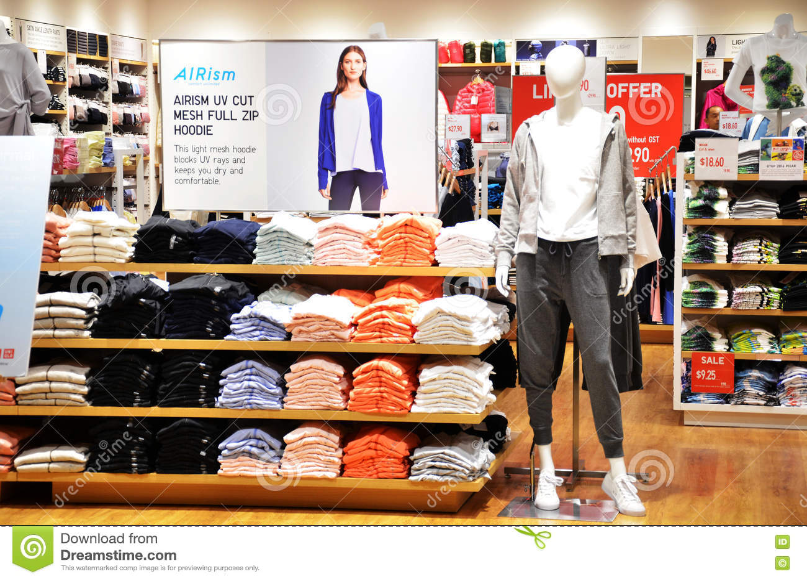 Uniqlo Store In Changi Airport, Singapore Editorial Stock Image ...