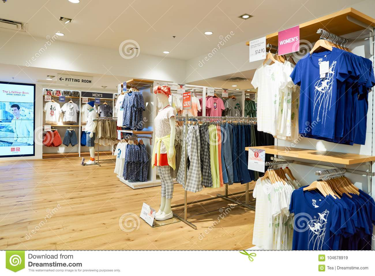 download uniqlo store editorial stock image image of chicago 104678919
