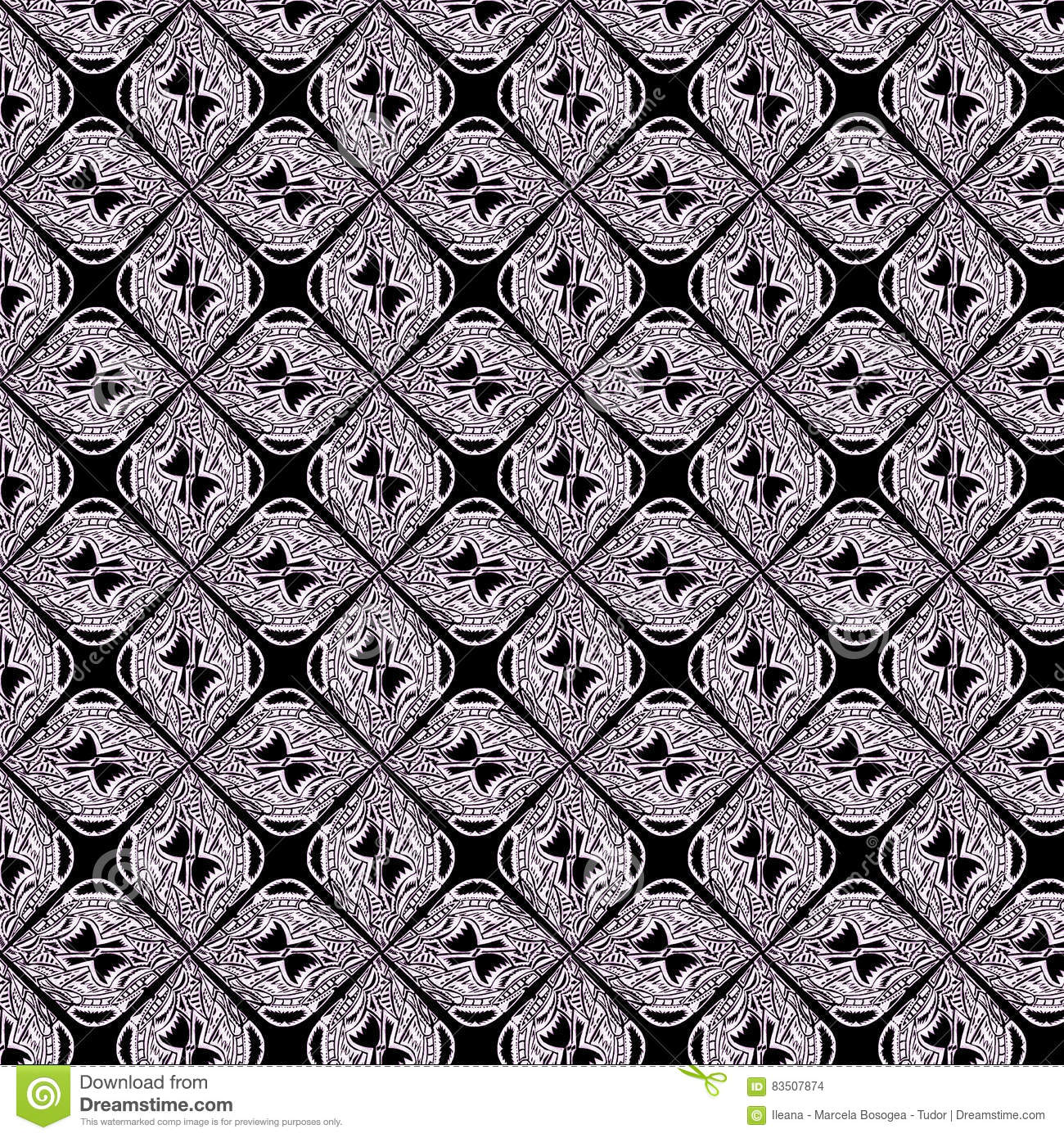 Unique, abstract pattern stock illustration  Illustration of classic