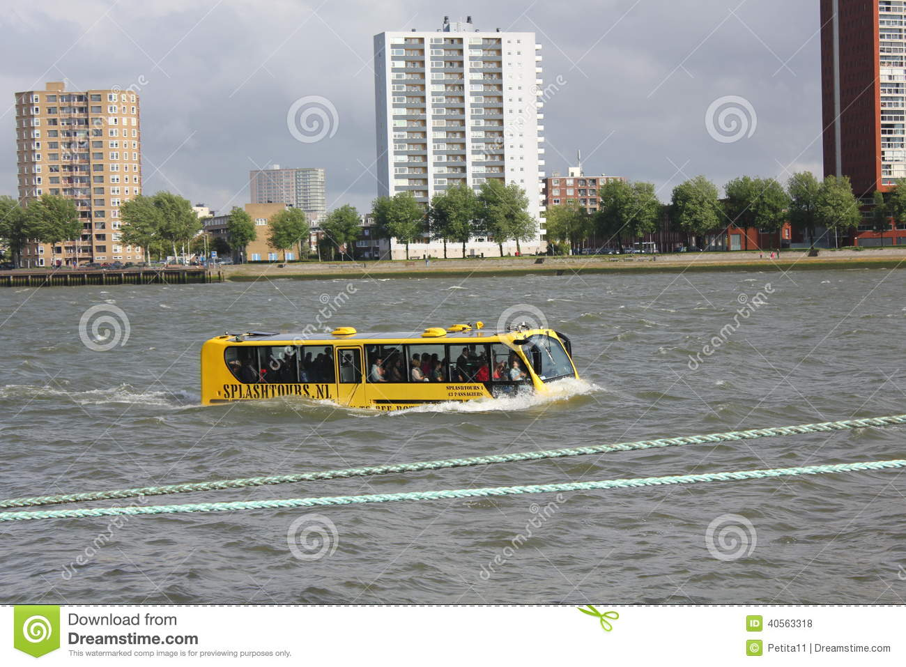Unique Amphibian (Land And Water) Bus On River Maa Editorial Stock