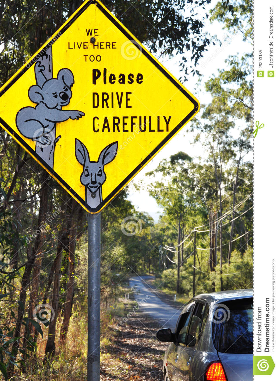 Time Road Id Roblox: Unique Australian Wildlife Road Sign Of Koala Stock Image