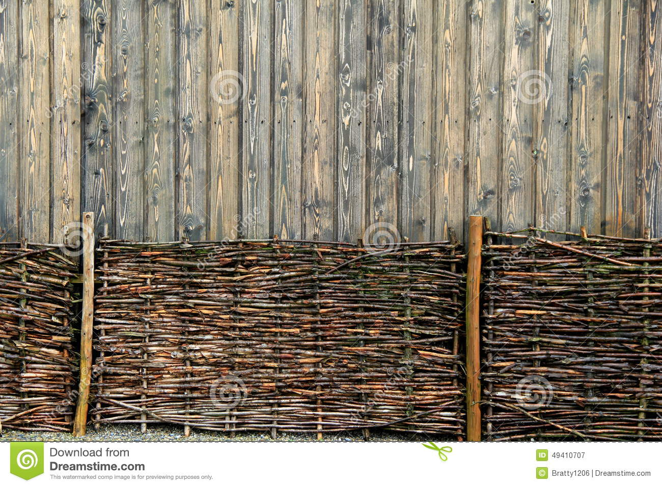 Unique background of wood fencing stock photo image 49410707 - Woven wood wall panels ...