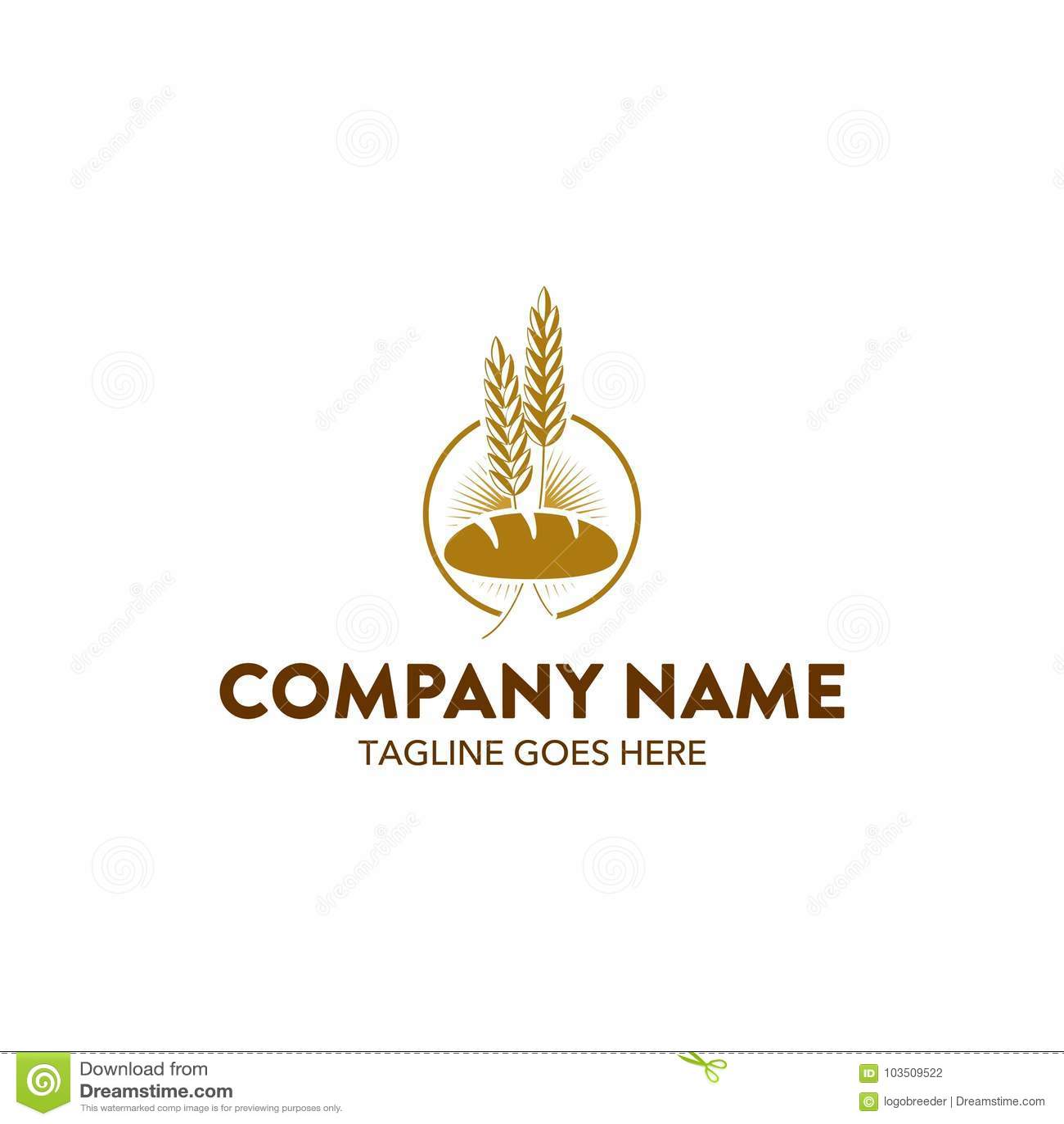 Unique Bakery Logo Template. Vector. Editable Stock Vector ...