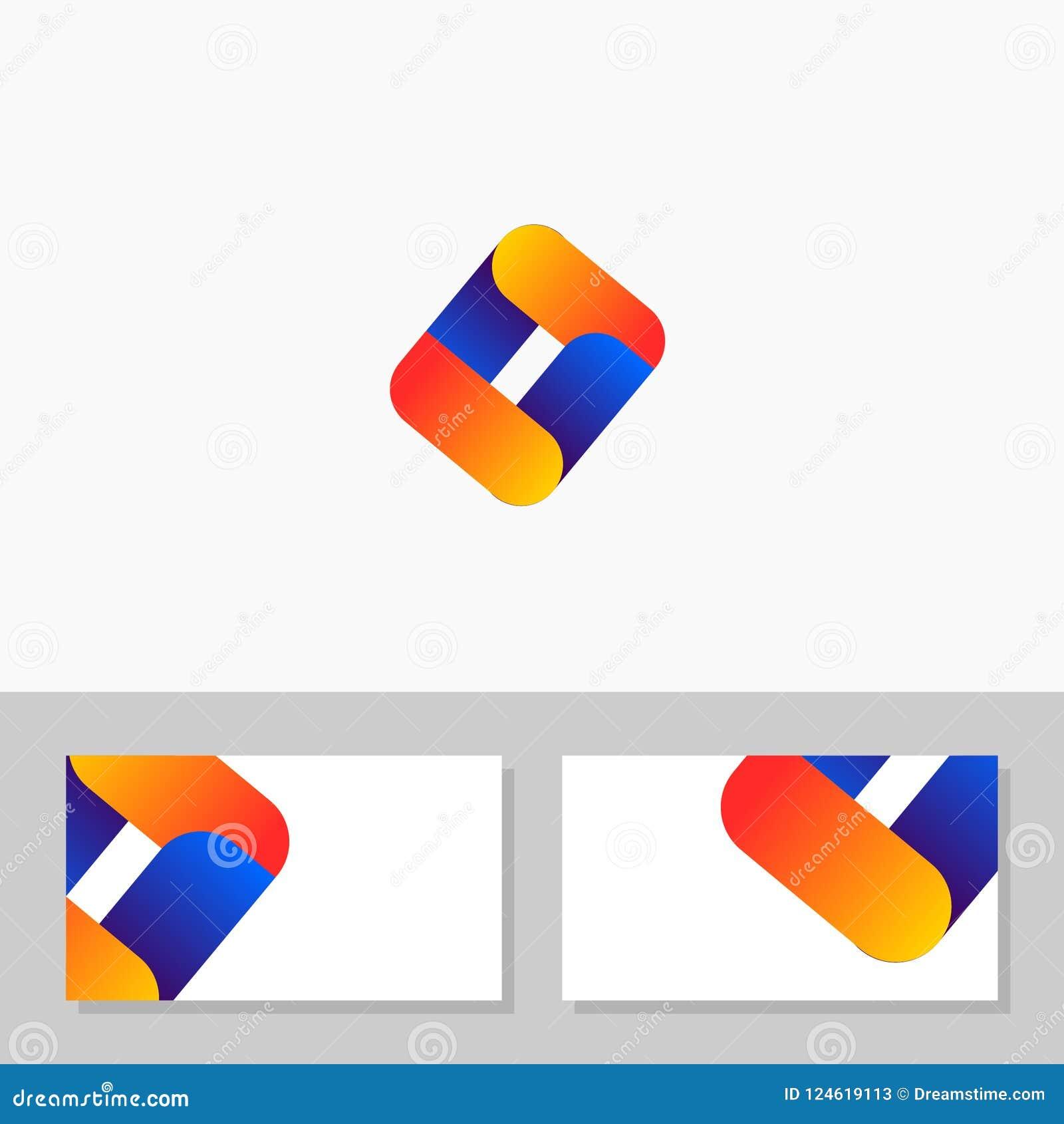 unique businness for it application logo vector  namecard