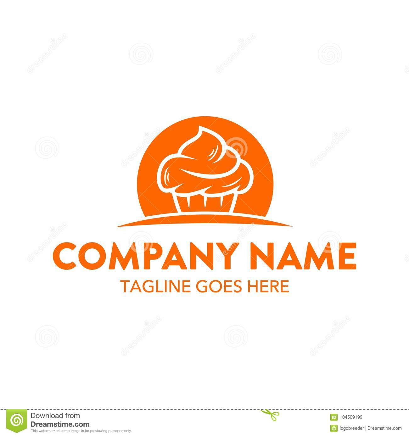Unique cake and cookies logo template. vector. editable