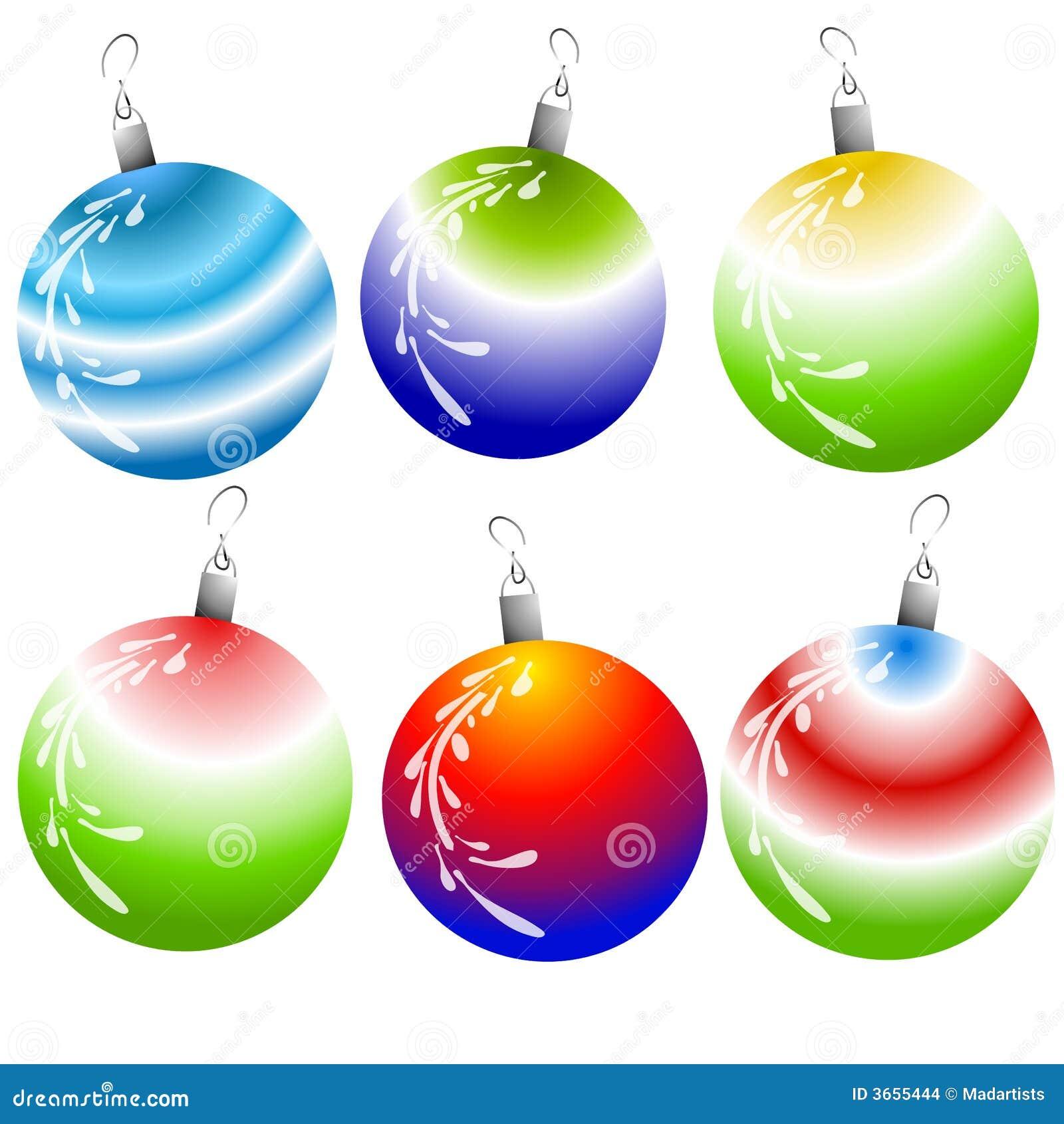 Unique Christmas Ornaments stock vector. Illustration of ...