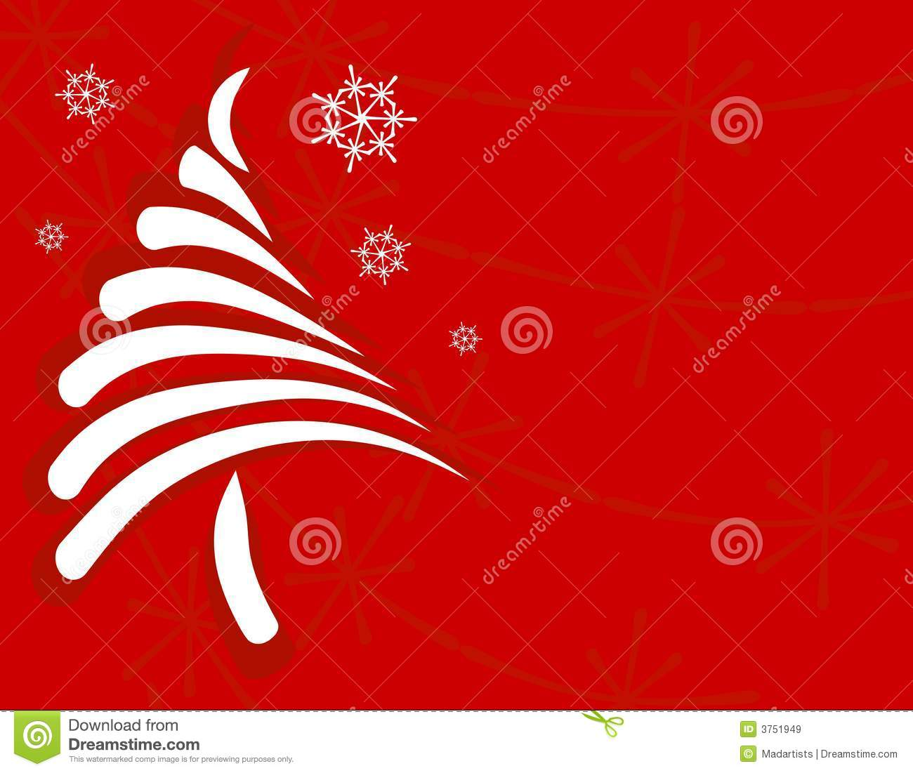 Clip art illustration featuring a unique looking christmas tree made