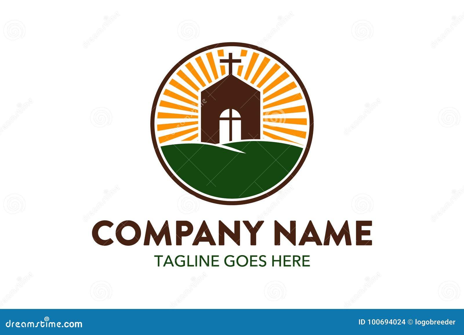 unique church logo template stock vector illustration of hope