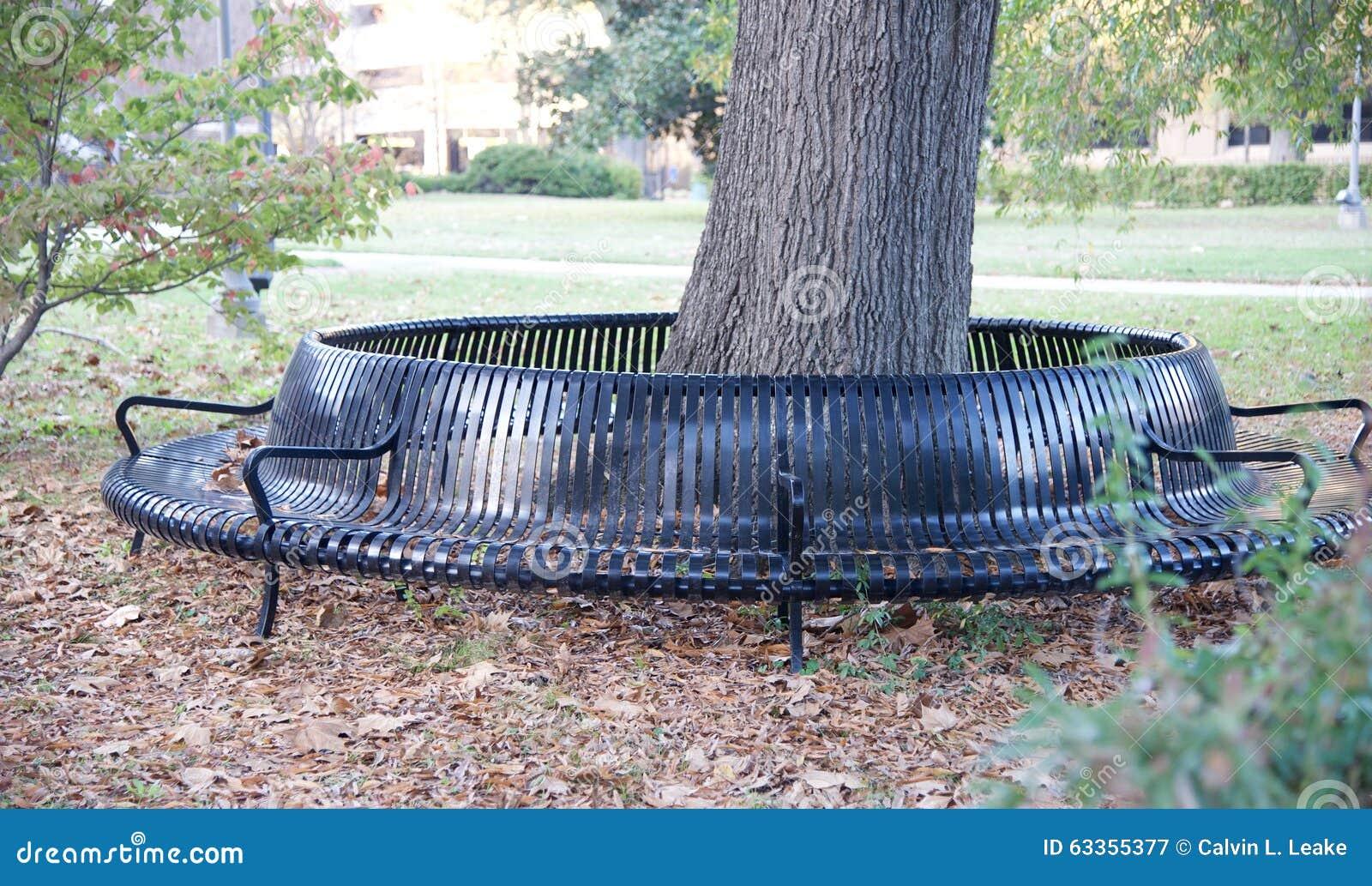 Unique City Park Bench Stock Photo Image 63355377