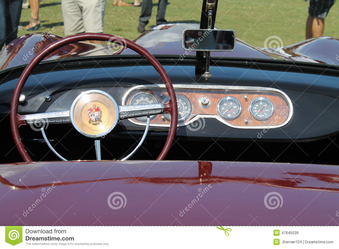 Unique Classic Sportscar Interior Editorial Stock Image