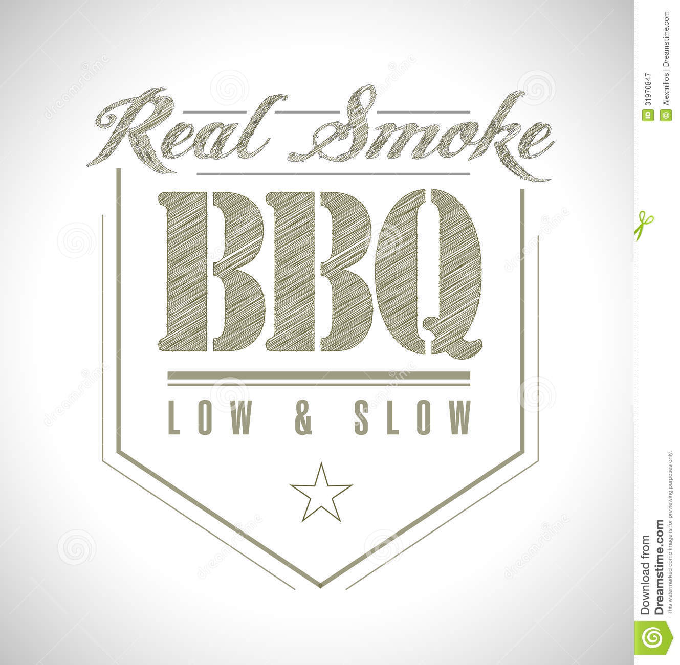 Unique and Classic text Barbeque Stamp