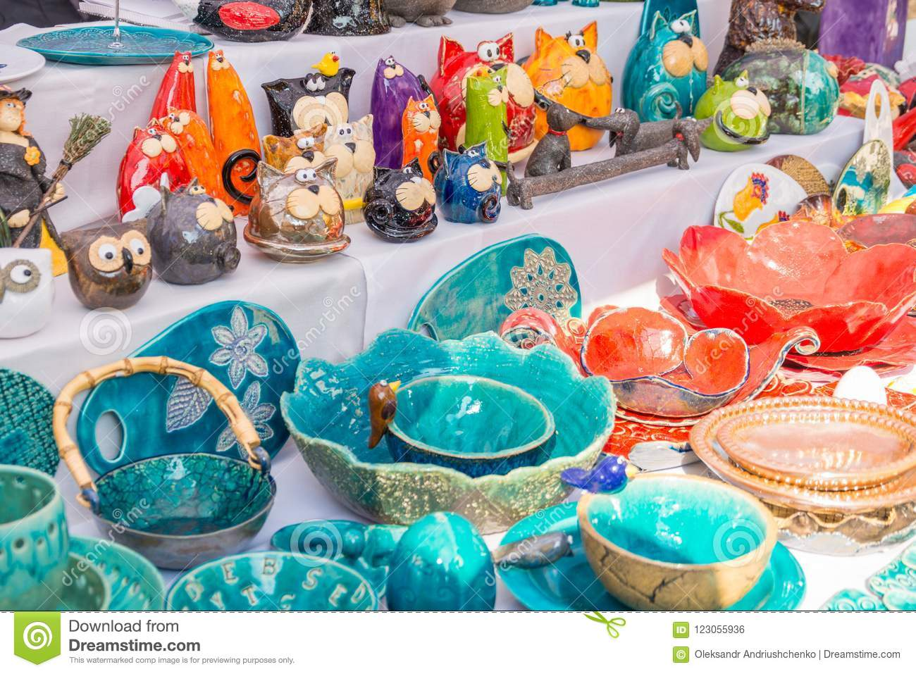 Unique Clay Products In The Form Of Birds And Animals Editorial ...