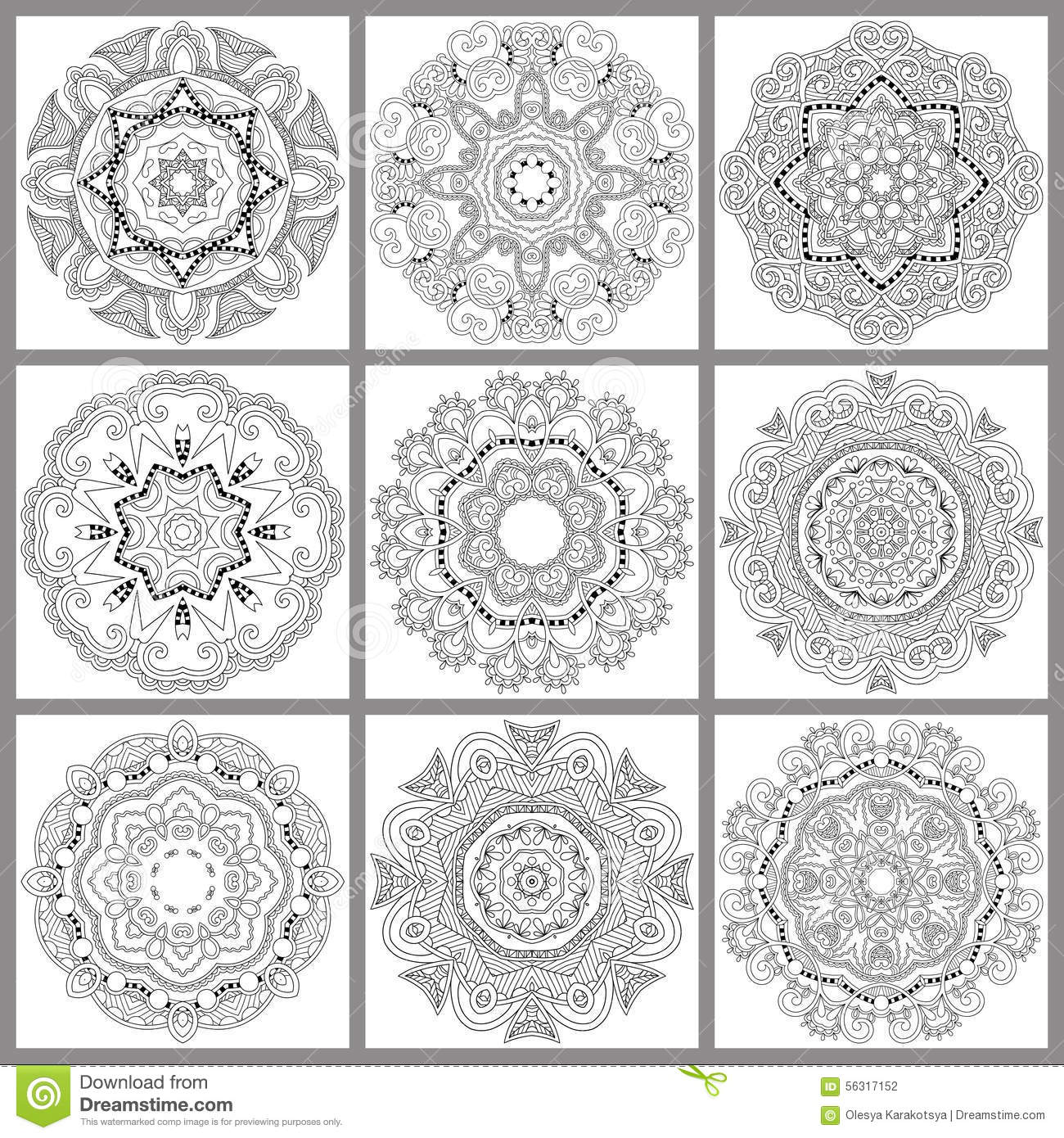 unique coloring book square page for adults stock photography - Unique Coloring Books