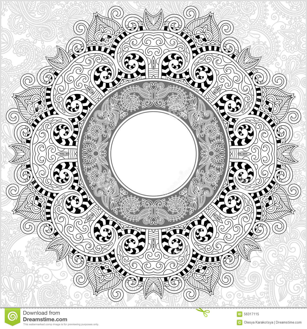 unique coloring book square page for adults stock vector image