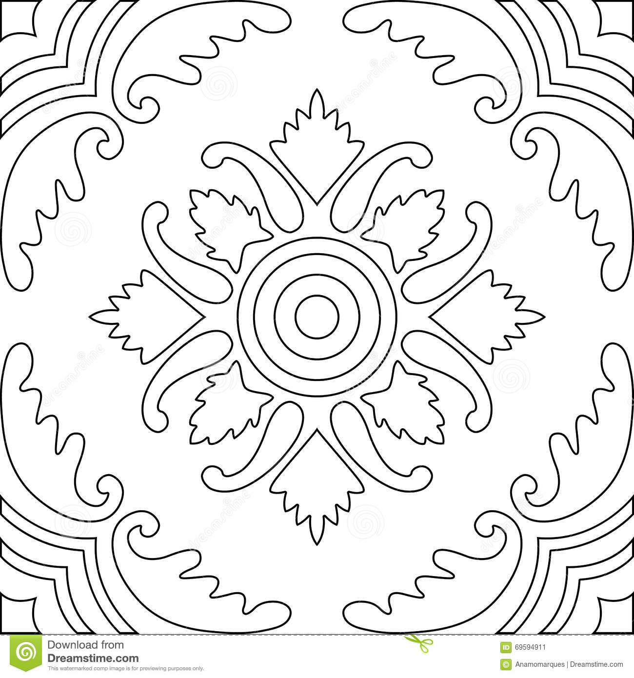 Unique coloring book square page for adults seamless for Unique coloring pages for adults