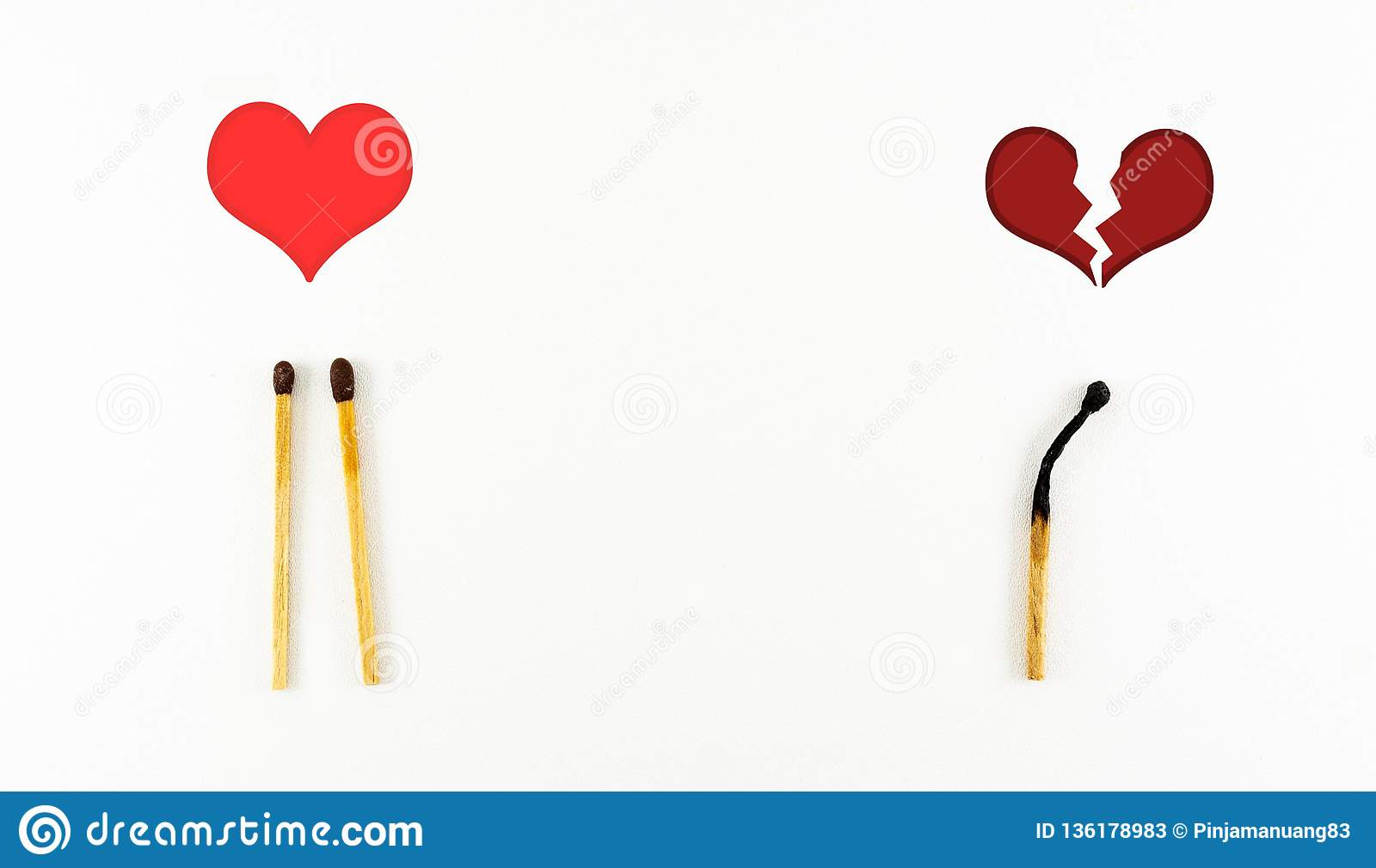 Broken heart stock image  Image of symbol, isolated - 136178983