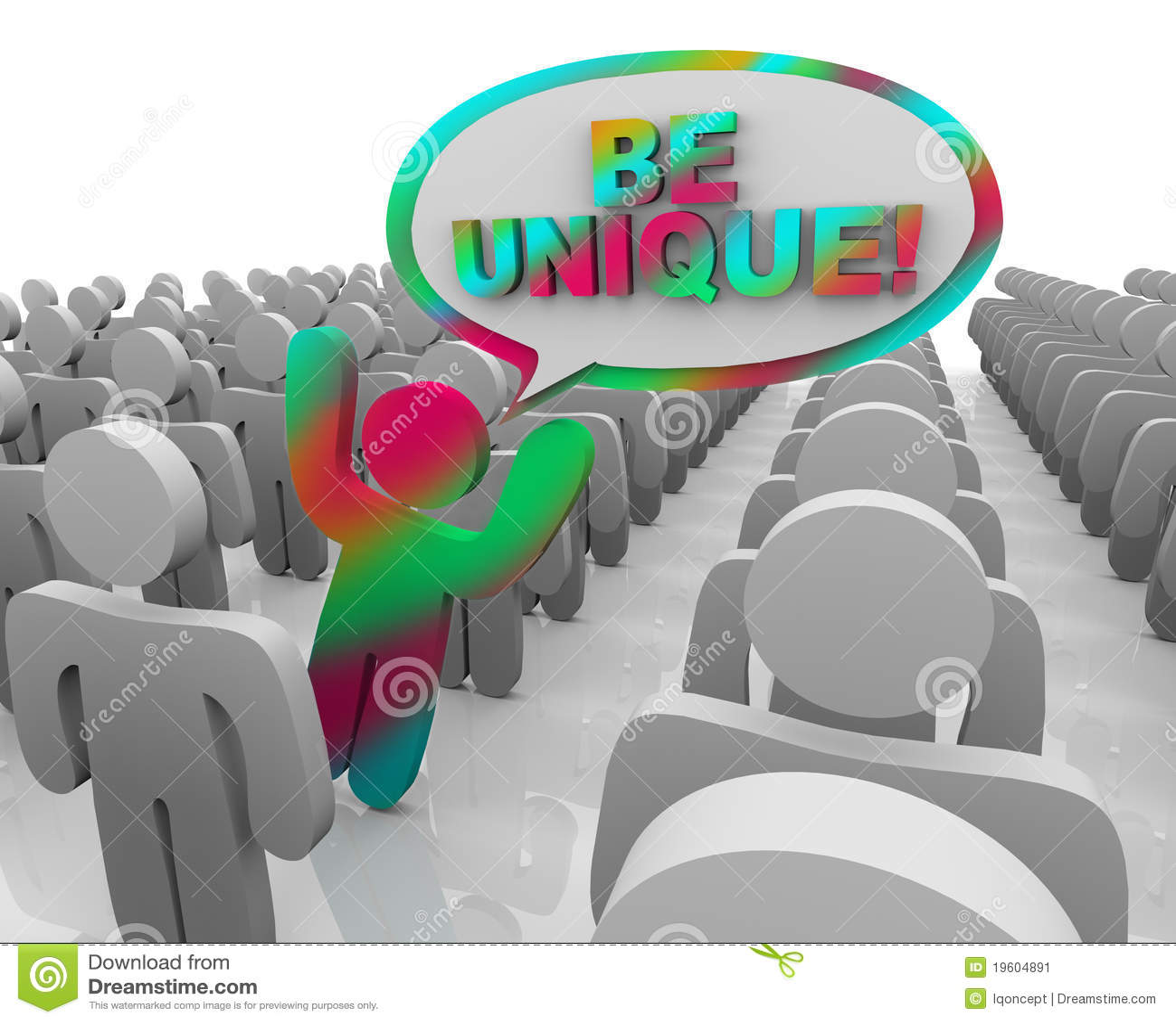 Unique Different Person Unique Person In A Crowd
