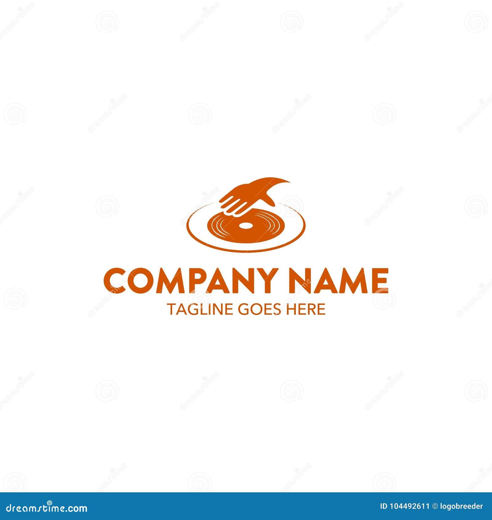 Unique Dj Music Related Logo Template. Vector. Editable Stock Vector ...