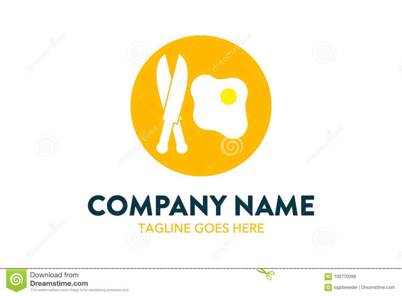 Unique Food, Beverage, Chef, Restaurant Logo Template Stock Vector