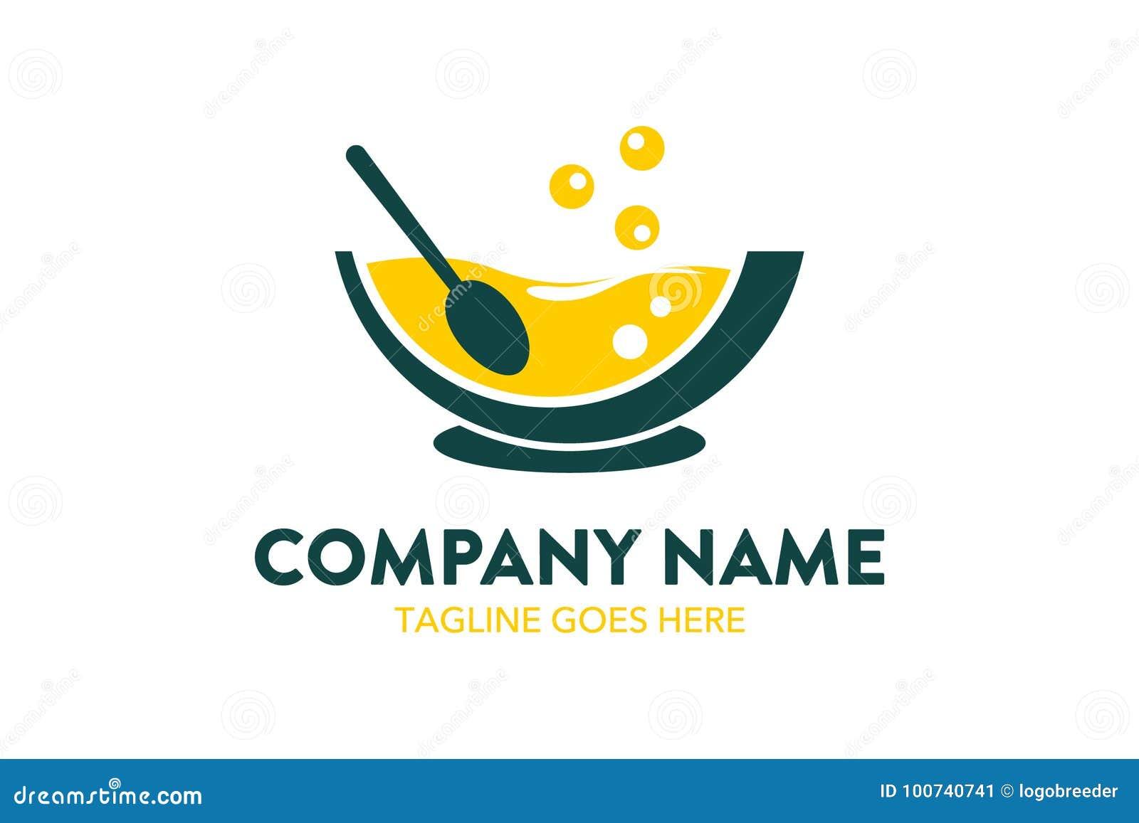 Unique Food, Beverage, Chef, Restaurant Logo Template Stock Vector