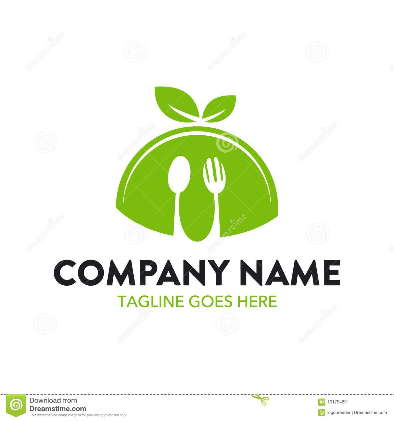 Unique Food And Restaurant Logo Template Stock Vector - Illustration