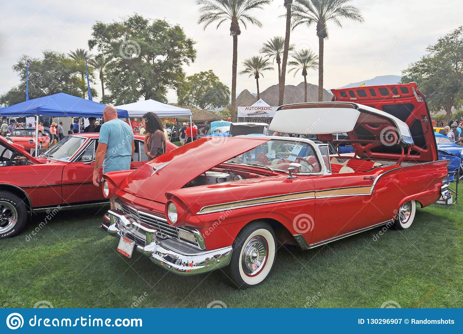 Ford Fairlane 500 Skyliner With Retractable Top Editorial