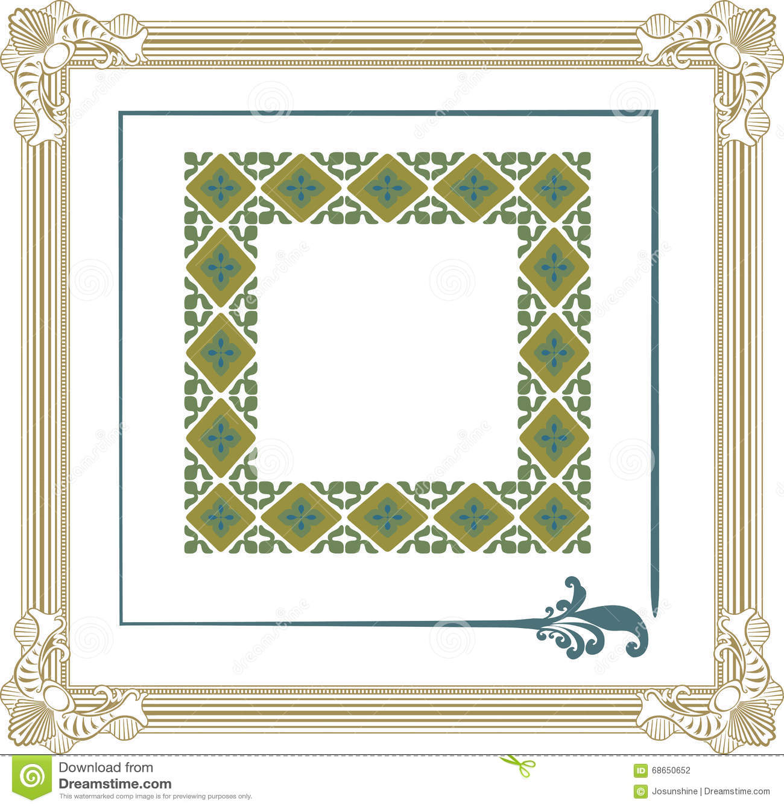 3 Unique Frames Vector stock vector. Illustration of decor - 68650652