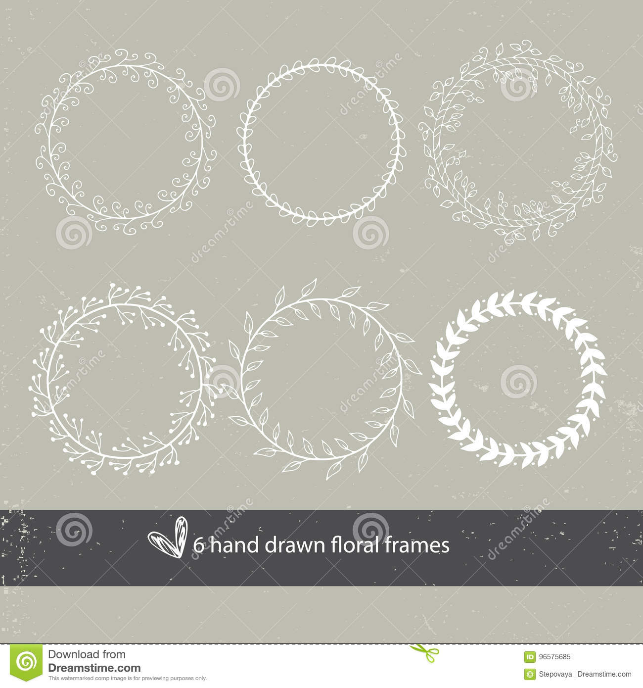 Unique Hand Drawn Round Frames - Wedding Decor Elements In Boho ...