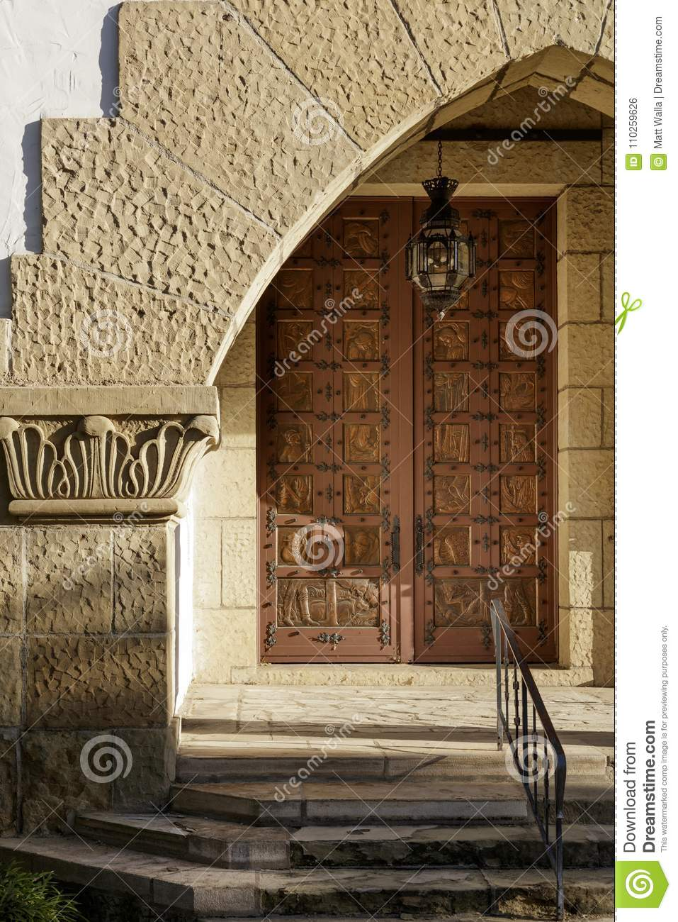 Download A Unique Hand Forged Old World Door Stock Photo   Image Of Carved,  Fancy