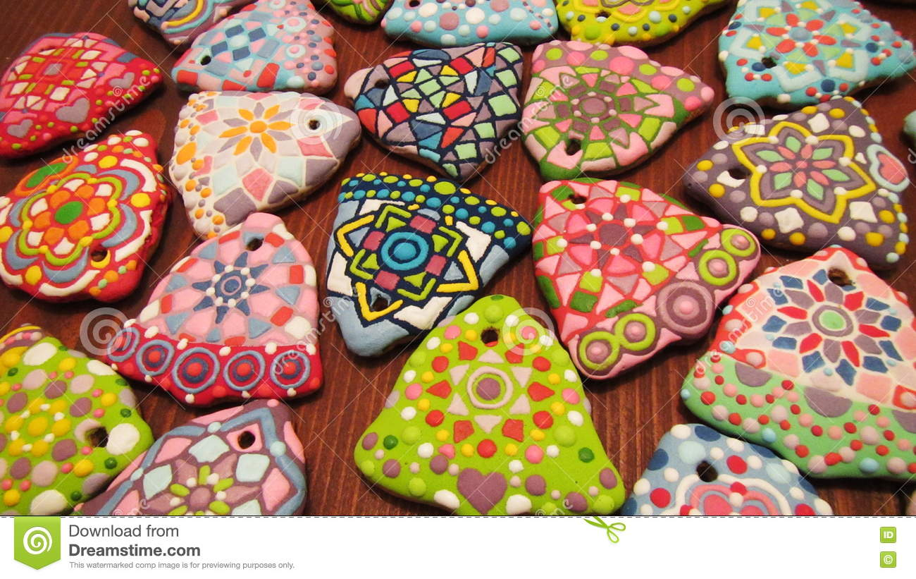 unique homemade colorful new years and christmas cookies collection artistic gingerbread in the shape of