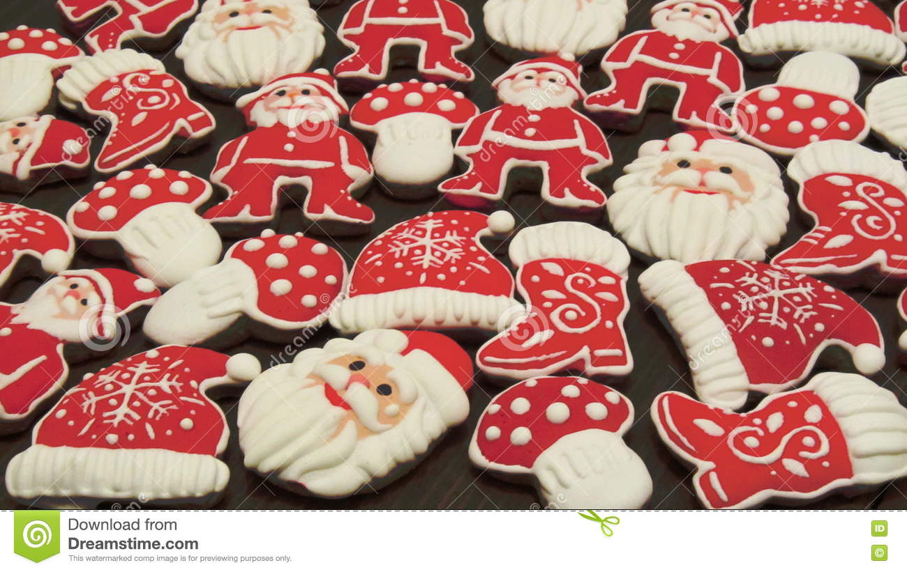 download unique homemade colorful new years and christmas cookies collection gingerbread stock image image