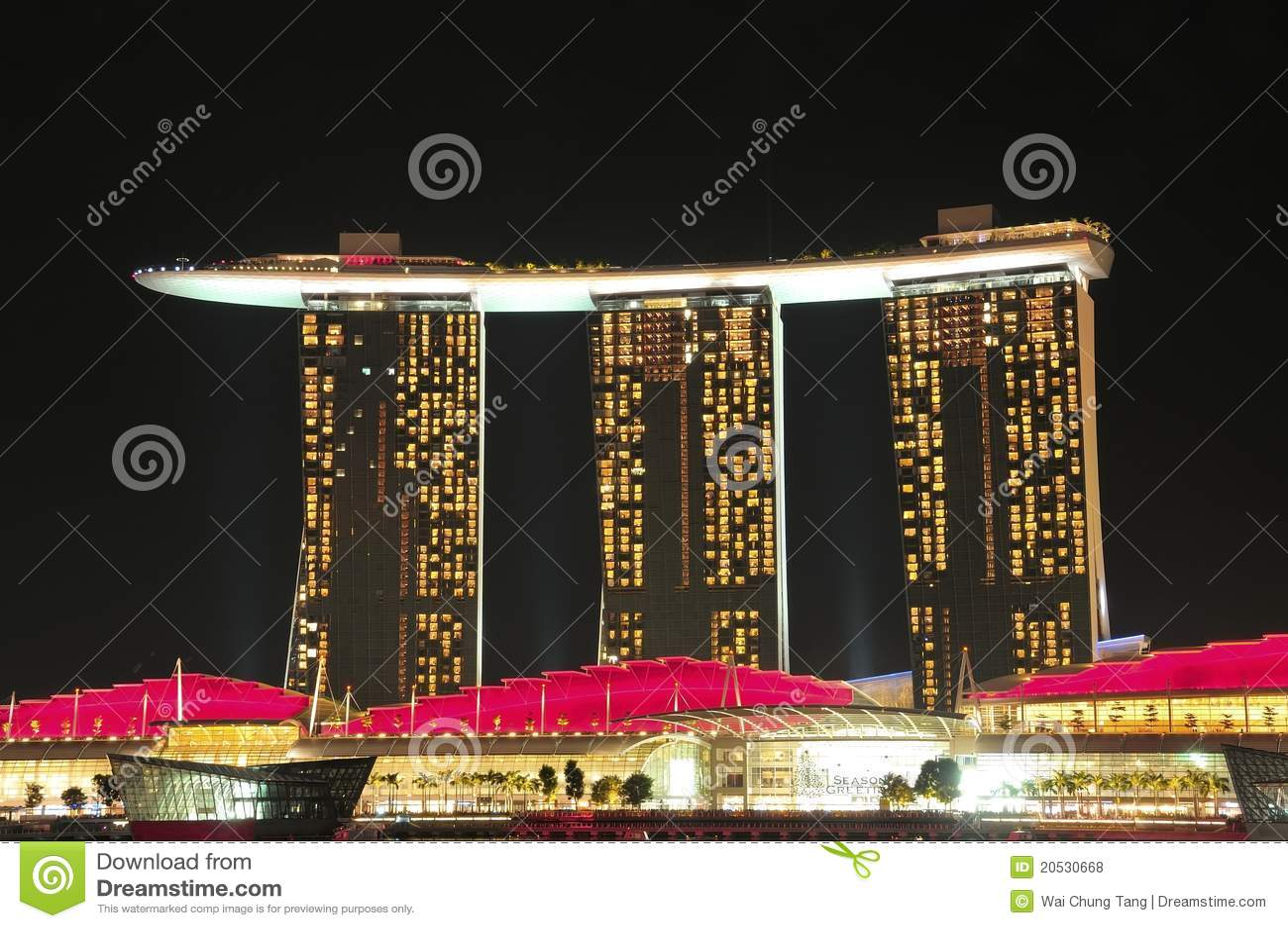 Architecture bay class hotel marina sands singapore unique