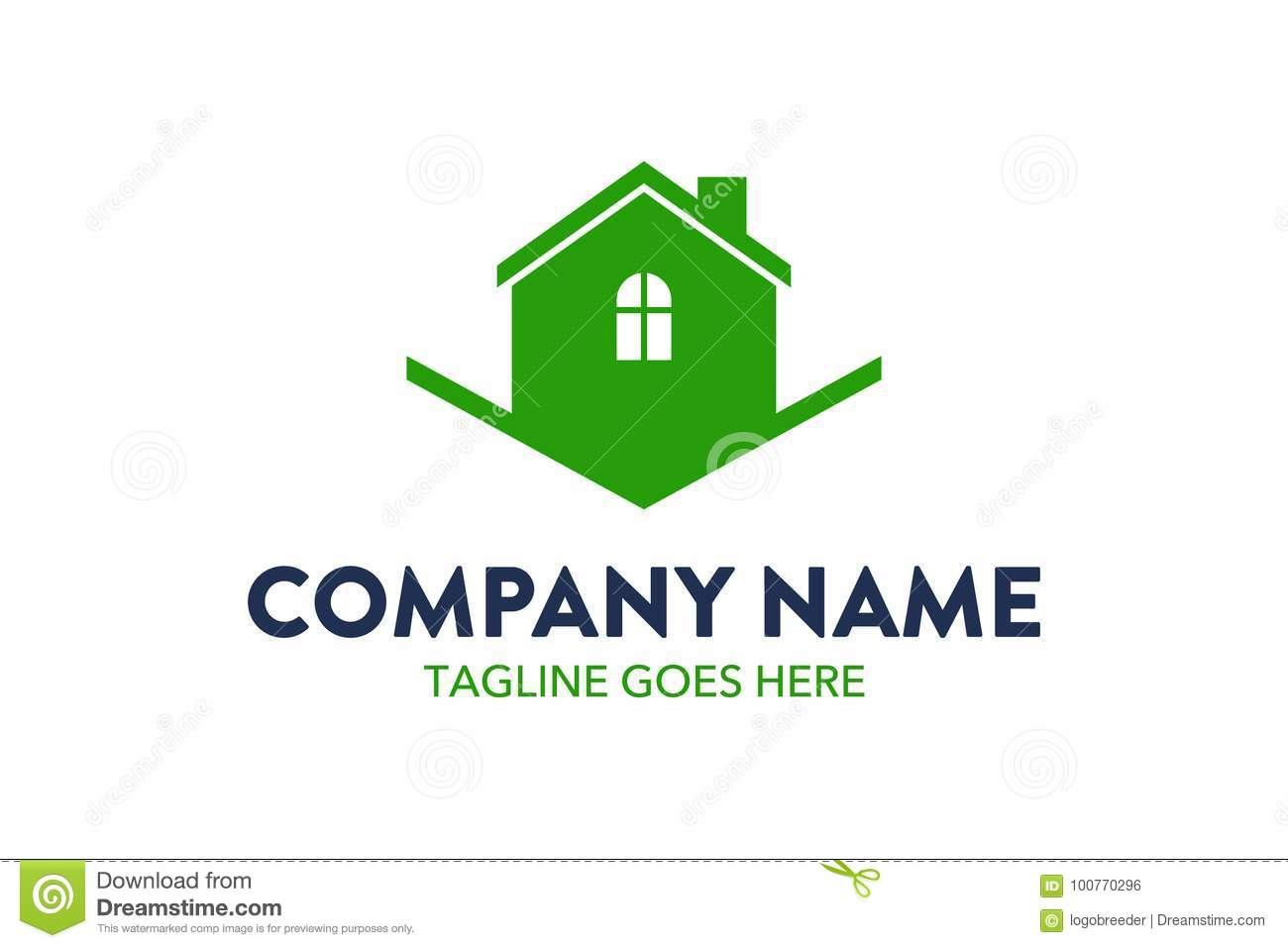 Unique House Apartment Resident Logo Template Stock Vector