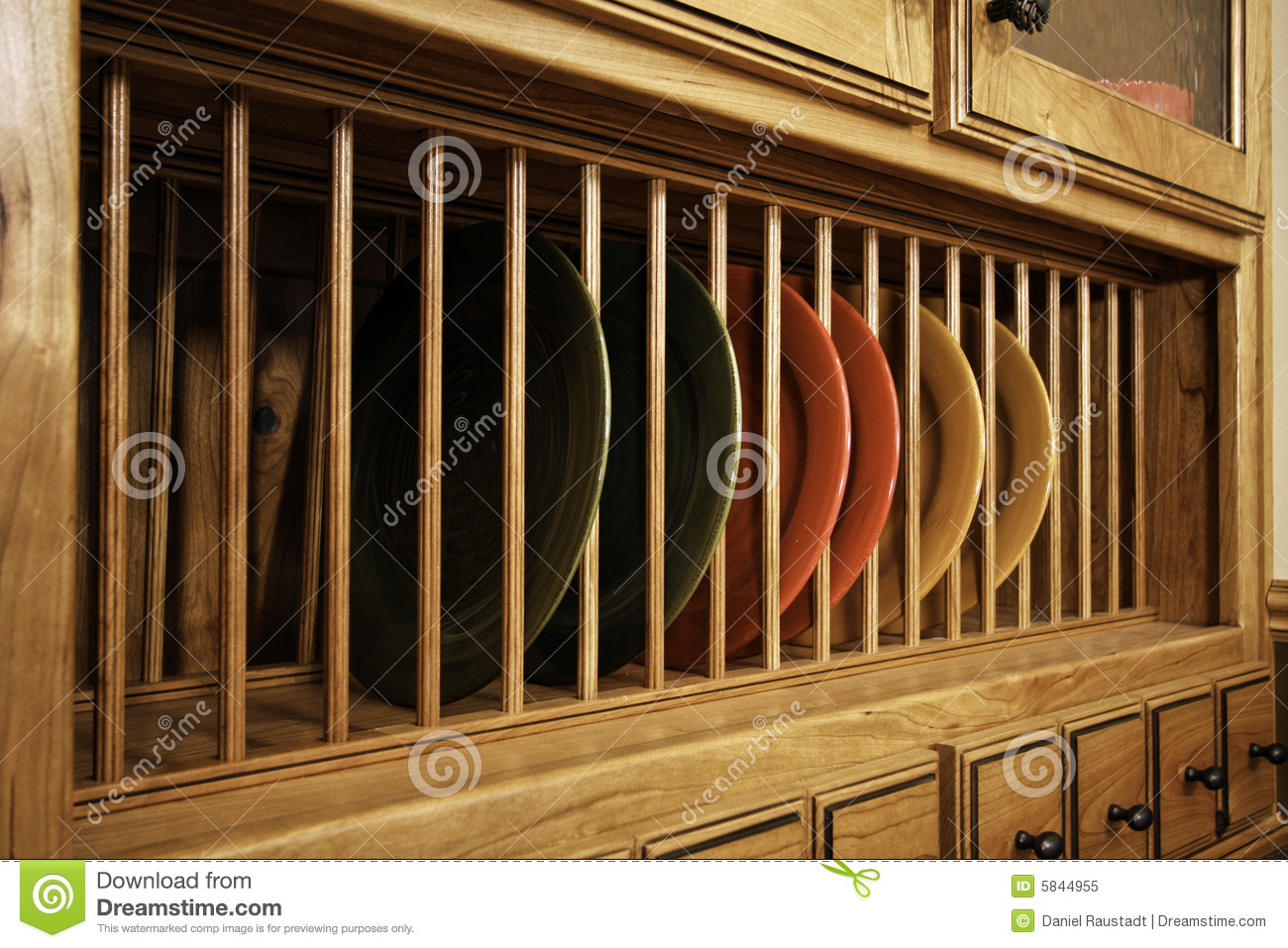 Unique Kitchen Cabinet Dish Storage Royalty Free Stock Photo ...